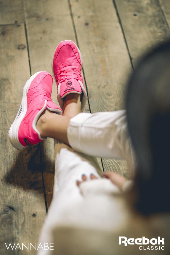 4 Rebook DJ Prema Unja Green Wannabemagazine 42 Reebok Classic modni predlog: Osvoji grad u pink patikama