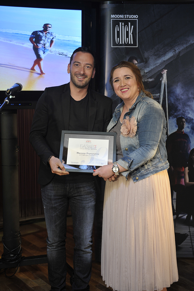 Milos Nadazdin i Ivana Filipovic 37. Black n Easy Fashion Week – Awards Night