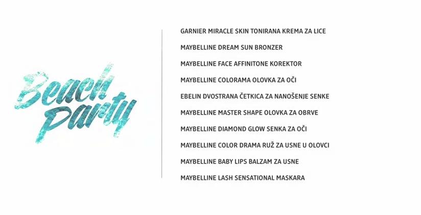 "Untitled2 dm look ""Beach Party"" tutorijal: Šminka"