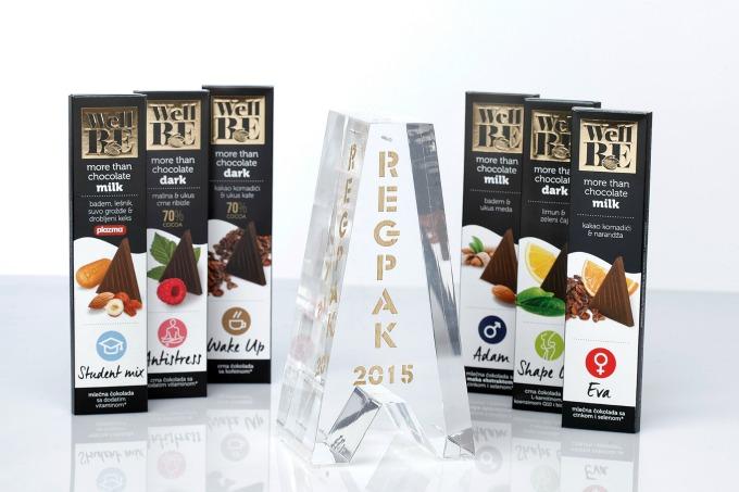 WellBE cokolade dobitnik regionalne nagrade REGPAK za originalnu ambalazu 1 WellBE čokolade nagrađene za najbolju ambalažu na regionalnom tržištu