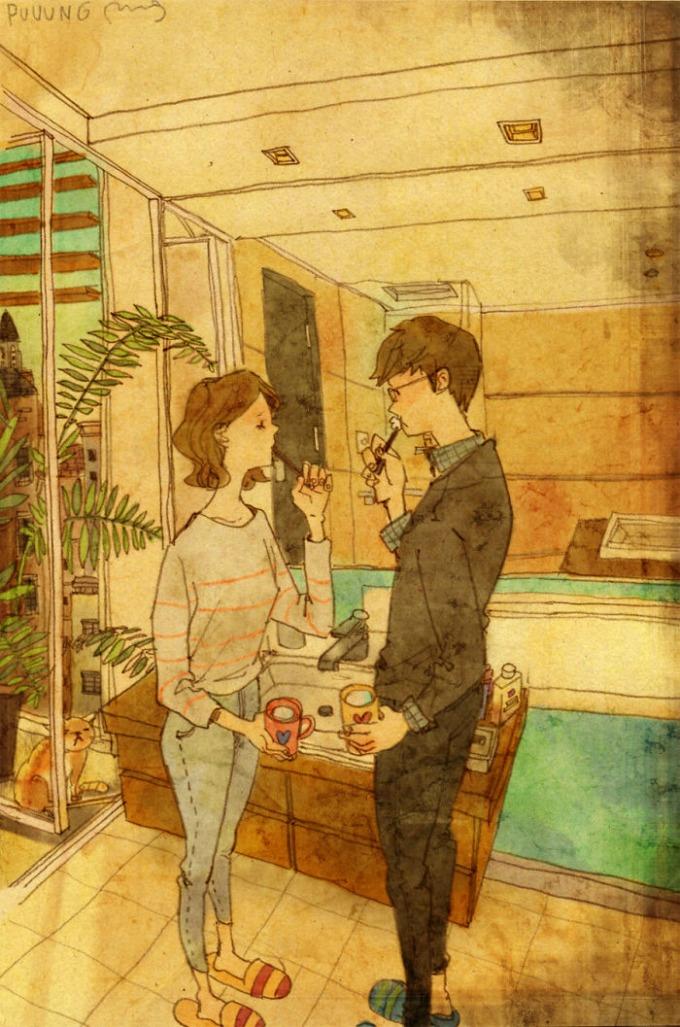 ilustracije  Ljubav čine male stvari!