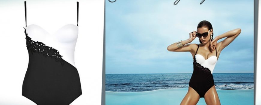 Lisca Swimwear: Crno-bela elegancija