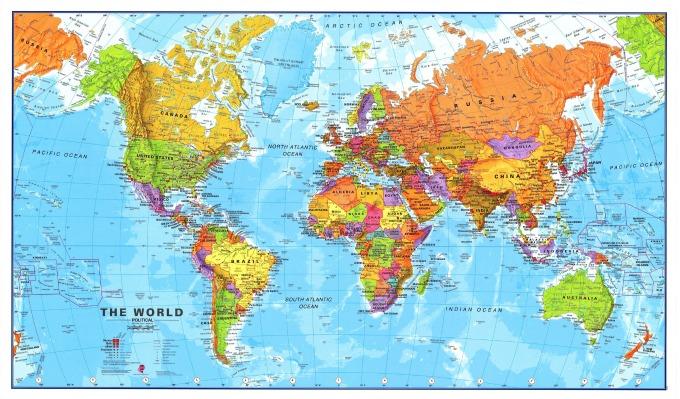 mapa sveta Kako biste živeli u drugoj zemlji