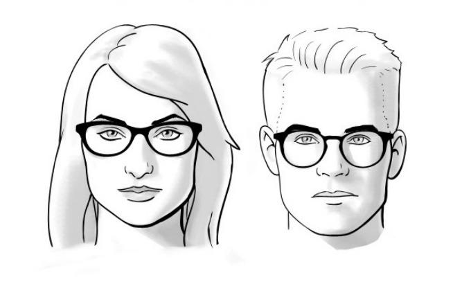 naocare za vid 2 Kako da odaberete pravi oblik naočara za vaš oblik lica