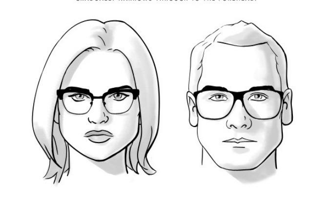 naocare za vid 5 Kako da odaberete pravi oblik naočara za vaš oblik lica