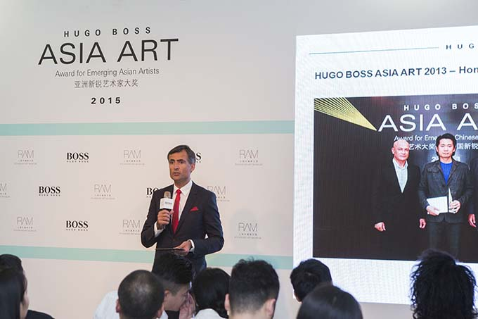 Press Conference June 2015 Mr. Gareth Incledon Hugo Boss Asia Art 2015