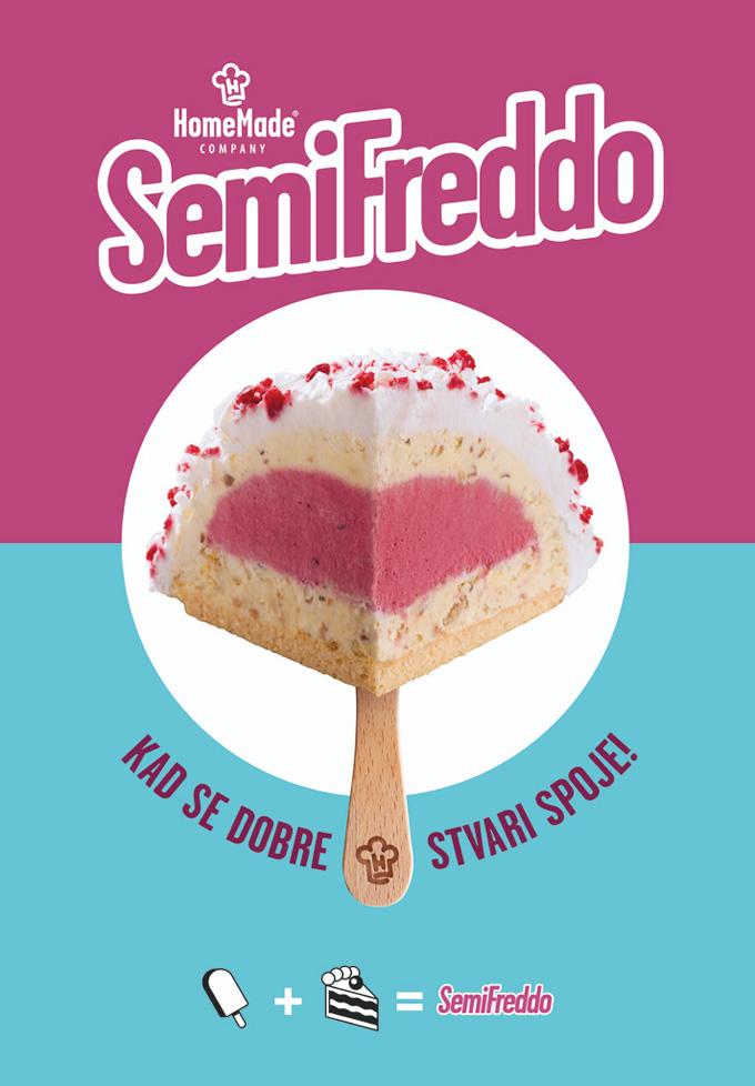 Sladoled torta Malina poster web Kad se dobre stvari spoje: Sladoled torte Home Made Company