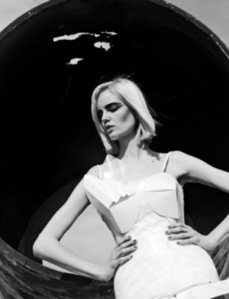 Predstavljamo vam editorijal papirnih haljina mladih studenata Modnog dizajna