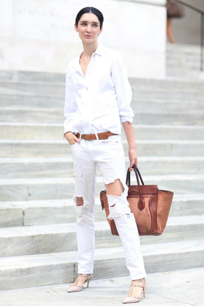 dzins bele boje 4 Kako da nosite džins bele boje ovog leta