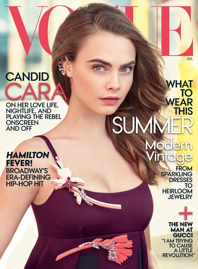 kara delevinj vogue us 1 Kara Delevinj na naslovnici magazina Vogue
