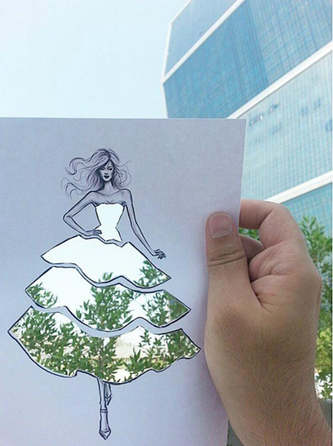 modne ilustracije 1 Modne ilustracije kroz koje se vide pejzaži