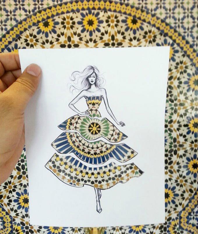 modne ilustracije 2 Modne ilustracije kroz koje se vide pejzaži