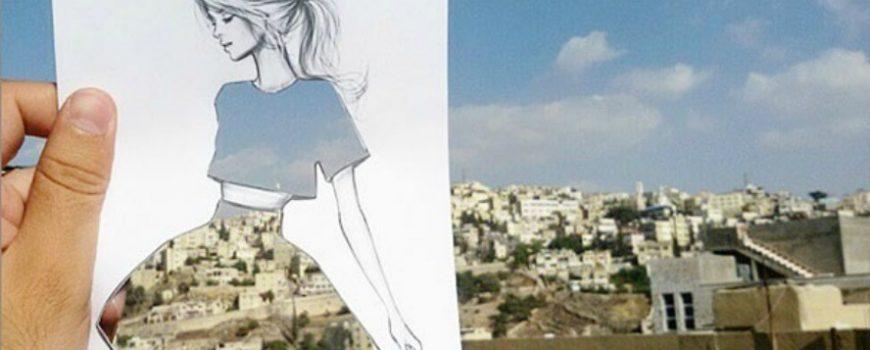 Modne ilustracije kroz koje se vide pejzaži