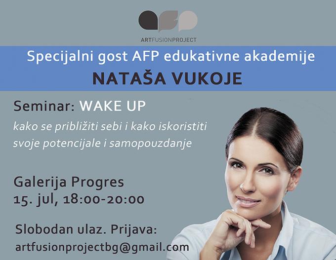 AFP Seminar Nataša Vukoje2 Nataša Vukoje deo Art Fusion Projecta 2015