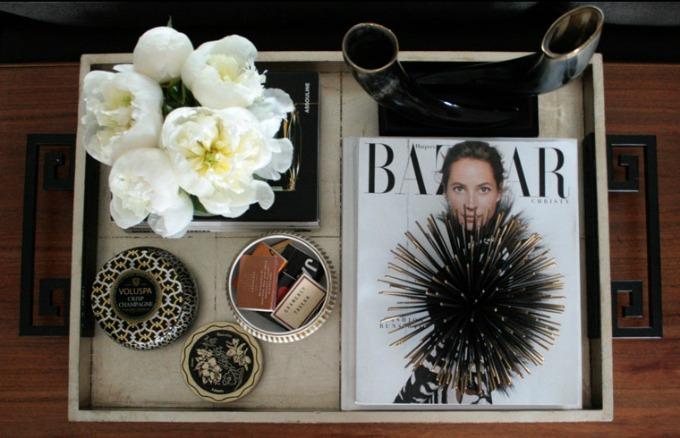 dekoracija stola 1 Dekoriši sto u dnevnoj sobi kao modna blogerka