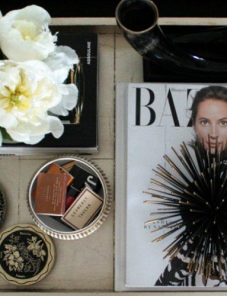Dekoriši sto u dnevnoj sobi kao modna blogerka