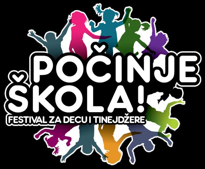 Logo festival pocinje skola Festival za decu i tinejdžere Počinje škola