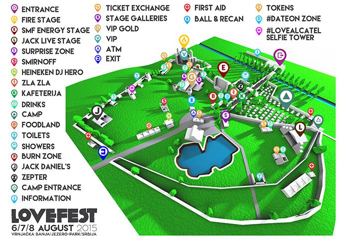 Lovefest 2015 Mapa Danas počinje Lovefest