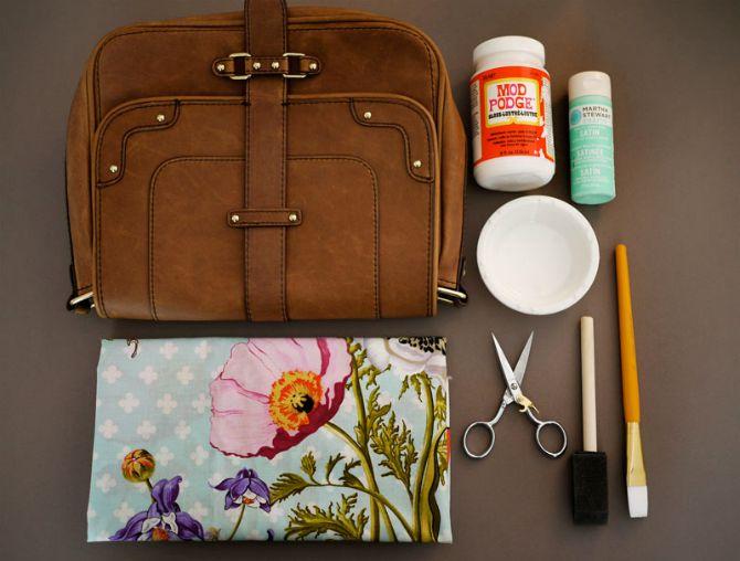 Napravi sama jedinstvenu dekupaž torbicu6 Napravi sama jedinstvenu dekupaž tašnu