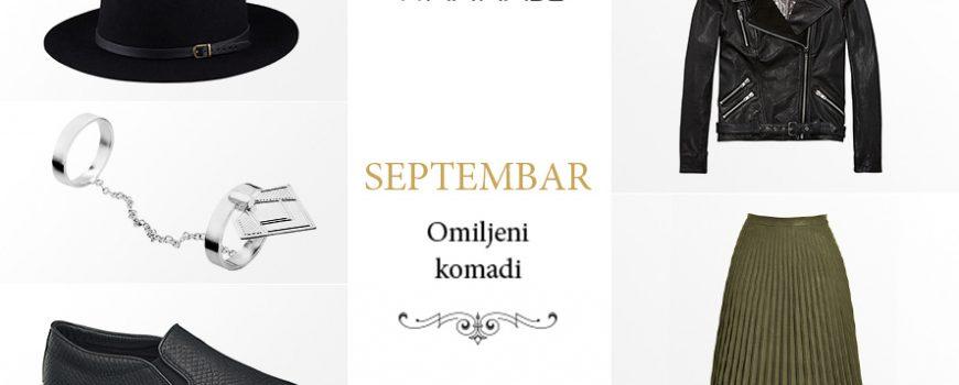 Omiljeni modni komadi za septembar