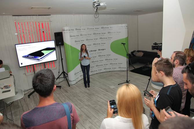 Samsung Galaxy S6 Edge+ i Tab S2 predstavljanje u Srbiji Aleksandra Aleksic Samsung trener Samsung GALAXY S6 Edge+ predstavljen u Srbiji