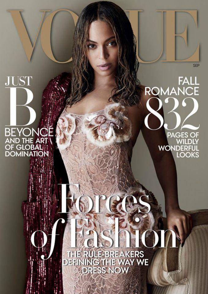 bijonse americki vogue 1 Bijonse ulazi u istoriju prvom naslovnicom za američki Vogue