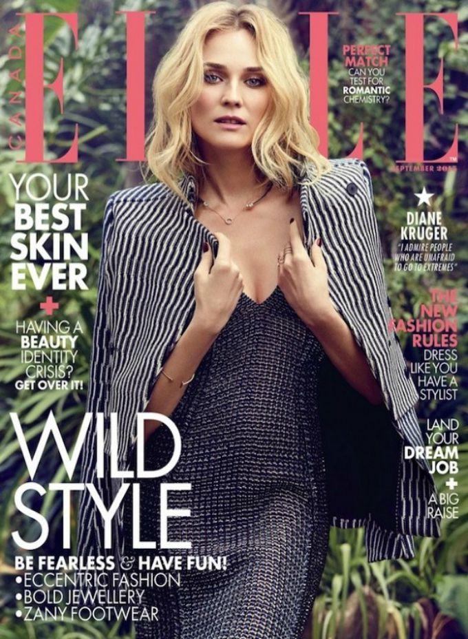 diane kruger elle canada 1 Dajen Kruger zvezda septembarskog izdanja magazina Elle Canada