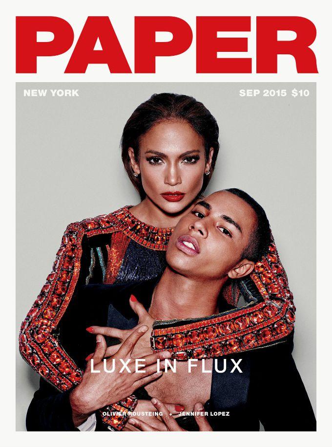 dzenifer lopez i olivijer rusting 1 Dženifer Lopez i Olivijer Rusting na naslovnici magazina Paper