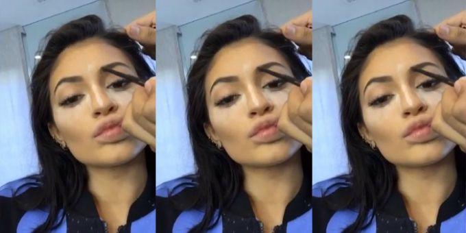kajli dzener 1 Video: Kako Kajli Džener konturiše lice
