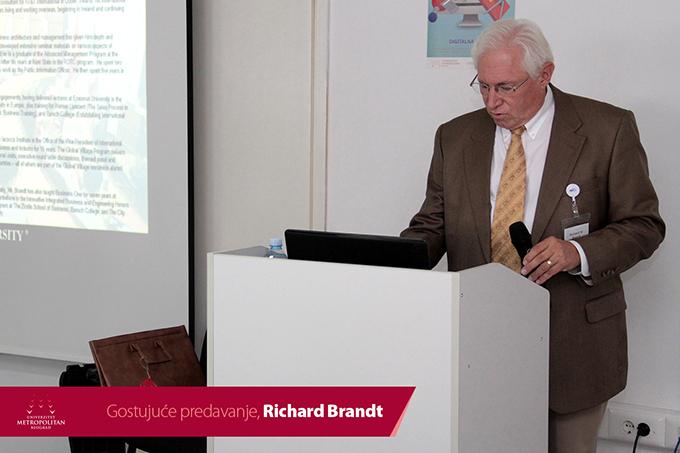 2 Održano predavanje gospodina Ričarda Branta na Univerzitetu Metropolitan