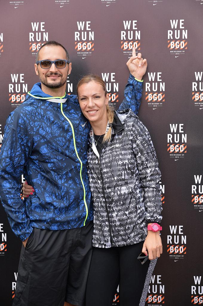 Ognjen Kajganic i Ivana Djerisilo Poznati na We Run Belgrade trci