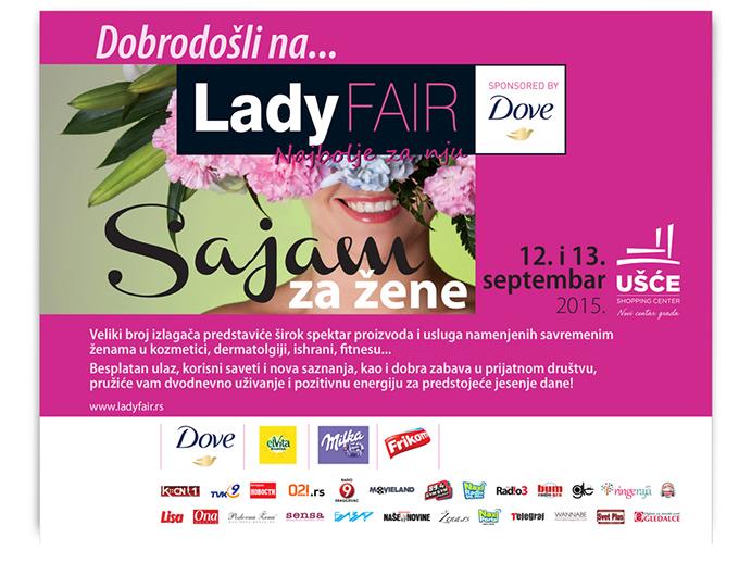 POZIVNICA IV LADY FAIR BY DOVE Sutra počinje sajam za žene