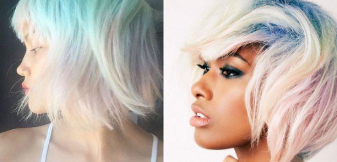 opal trend u bojenju kose2 Opal trend   za žene koje vole upadljivu boju kose