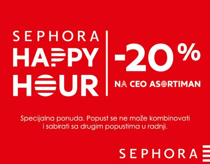 sephora happy hours 1 Svi volimo Happy Hours u radnjama Sephora!