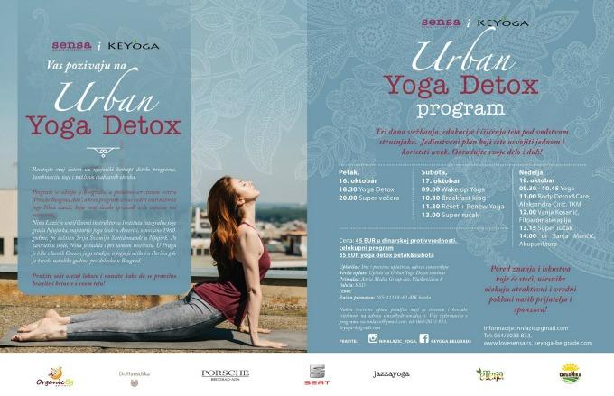 urban yoga detox 1 Urban Yoga Detox: Tri dana vežbanja, edukacije i čišćenja tela