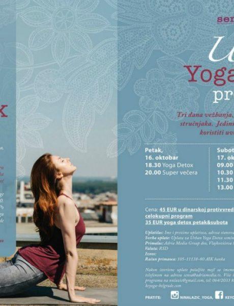 Urban Yoga Detox: Tri dana vežbanja, edukacije i čišćenja tela