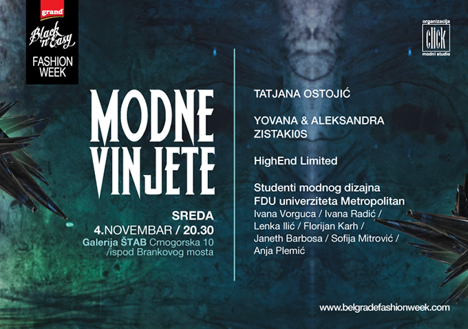 Modne vinjete Modni dizajneri Metropolitan univerziteta na Belgrade Fashion Week u