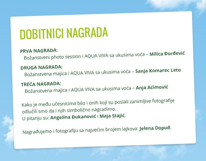 Wannabe Aqua Viva Nagrade W670 3 Završen je nagradni foto konkurs Ti si #bozanstvena jer... a ovo su dobitnici!