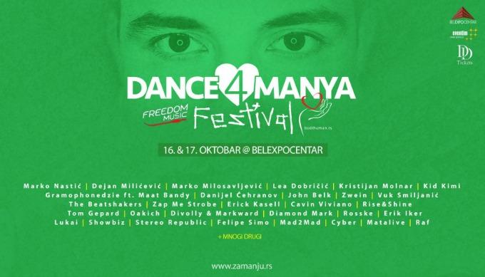 dance4manya 1 Večeras će srca 50 di džejeva kucati u istom ritmu!