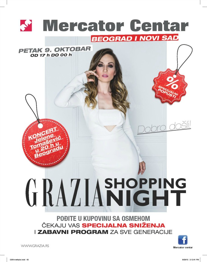 grazia shopping night 1 Grazia Shopping Night u Mercator centrima u Beogradu i Novom Sadu