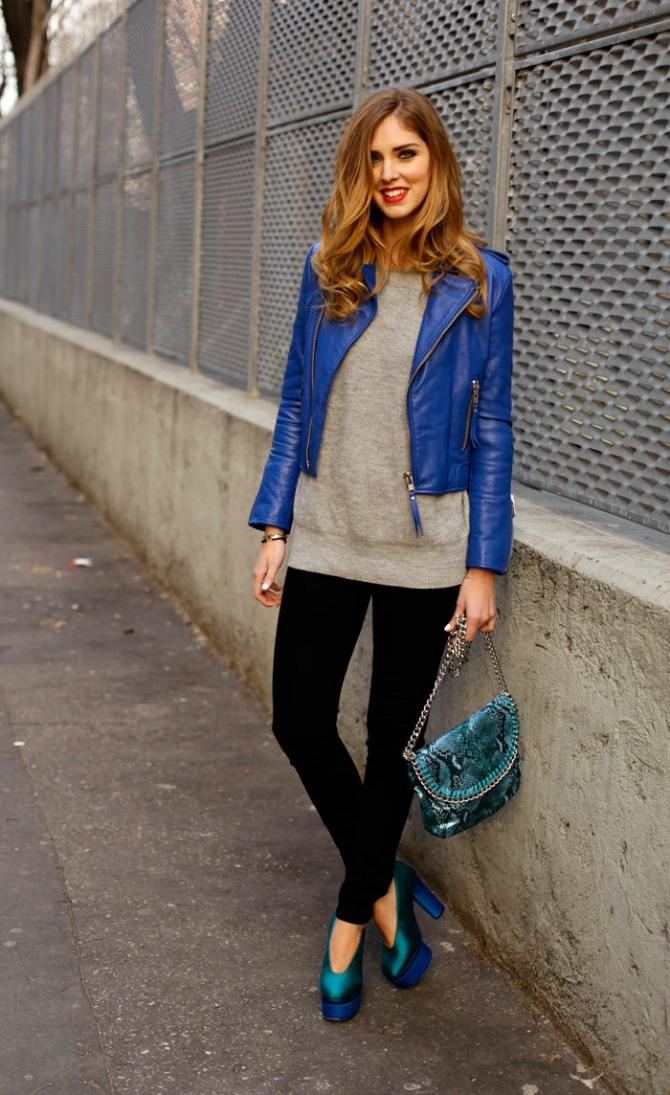 koza jakna plave boje Kožna odeća u boji je novi must have
