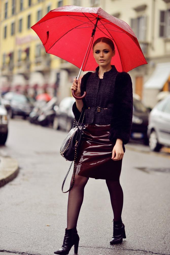 kozna suknja u boji Kožna odeća u boji je novi must have
