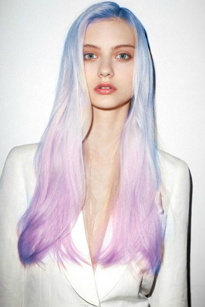 sarena kosa1 Načini na koje možete nositi kosu boja duge