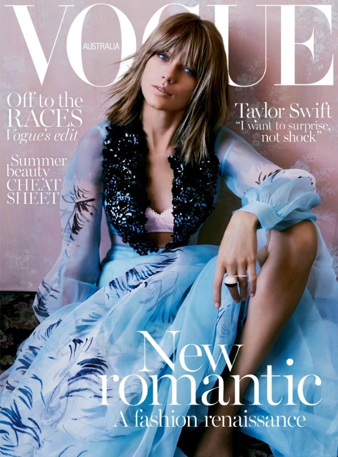 tejlor svift vogue australia 1 Tejlor Svift krasi naslovnicu australijskog Vogue a