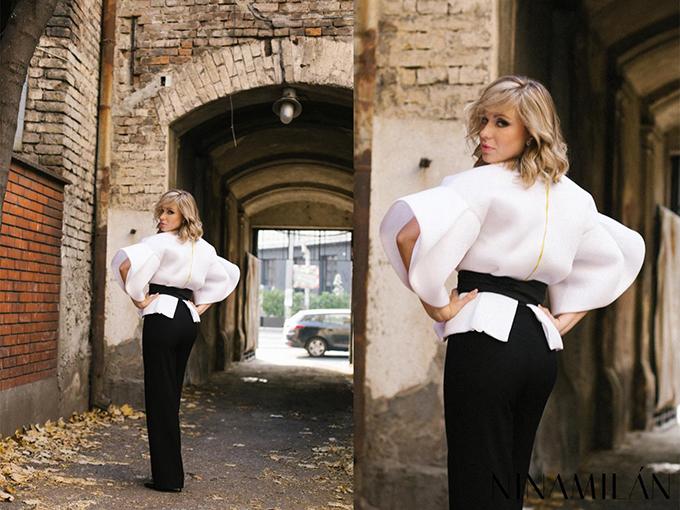 2a NINAMILAN: Crveni sako i bela bluza su must have