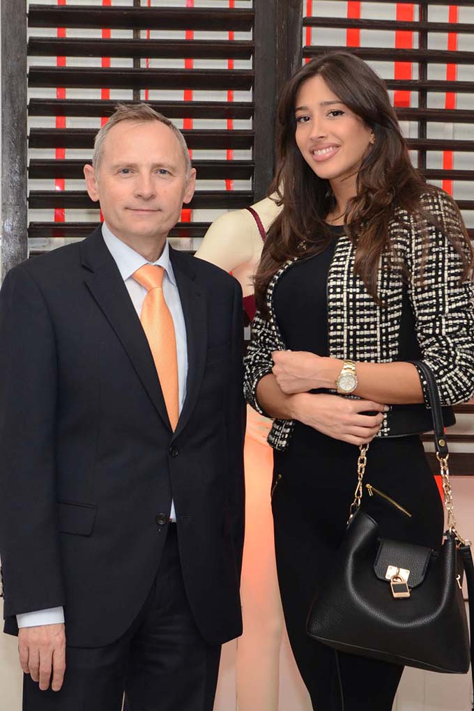 Gorazd Uratnik direktor Lisca Srbija  Aleksandra Tasić manekenka Lisca predstavila kolekciju za jesen/zimu 2015.