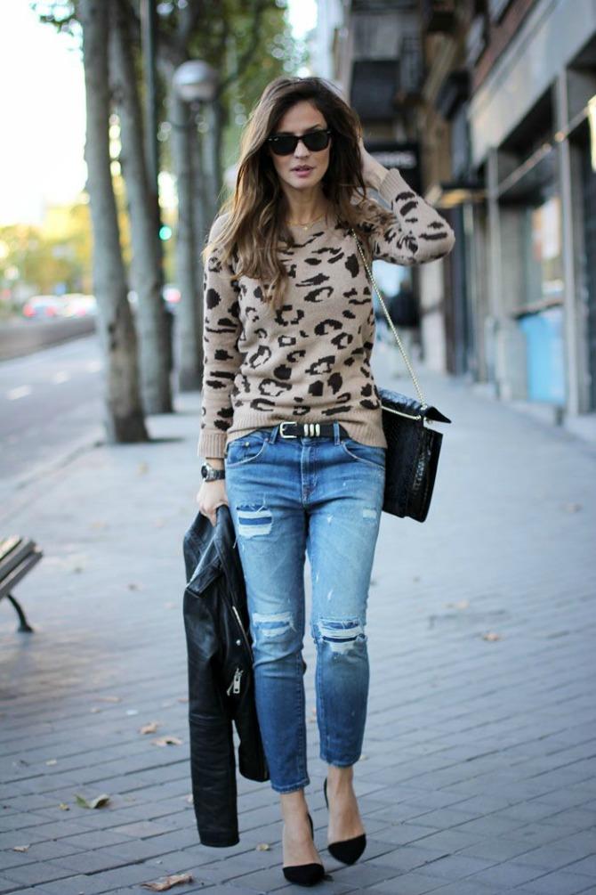Leopard print top i džins Leopard print koji moraš imati u svom garderoberu