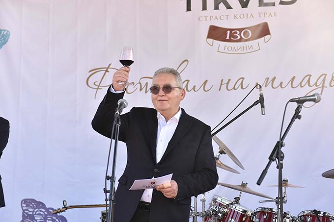 Svetozar Janevski Predsednik Upravnog odbora Vinarije Tikveš pozdravni govor Šesti Festival mladog vina Tikveš vinarije