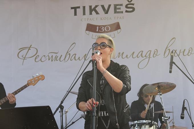 Tijana Dapčević na Festivalu mladog vina Tikveš Šesti Festival mladog vina Tikveš vinarije