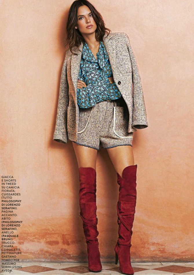alesandra ambrosio2  Alesandra Ambrosio na naslovnoj strani magazina Grazia